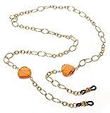 L. Erickson Spellbound Eyeglass Chain - Rose/Gold