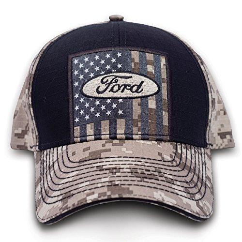 Buck Wear 9119 Buckwear Ford Motor Company USA Tan Digi Baseball Cap Black Digi, One Size from Buck Wear