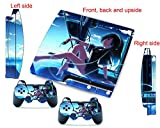 ps3 skins blue sky girl decals vinyl cover for ps3 slim console