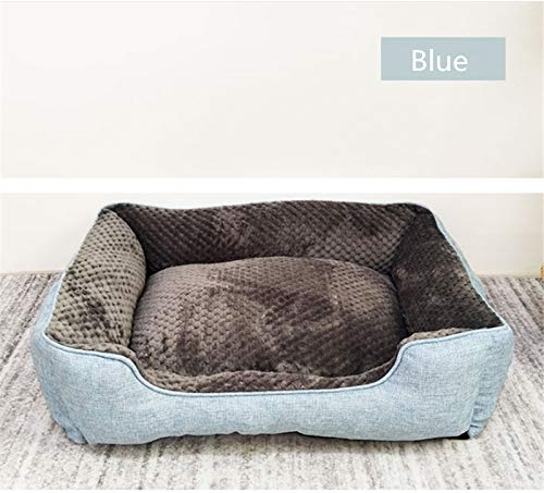 bluee M bluee M Gaobey Self-Warming Cat and Dog Bed Cushion for Medium Large Dogs Short Plush (M, bluee)
