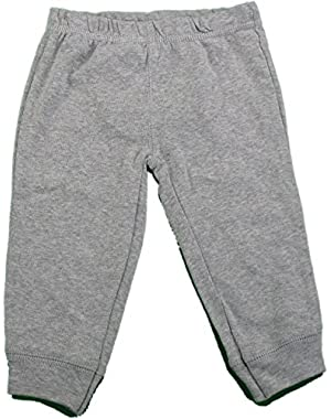 Carter's Baby Elastic Waistband Pants with Puppy Design Gray