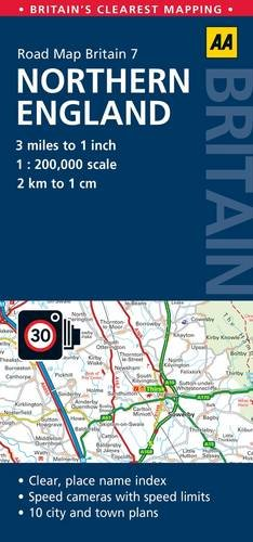 AA Road Map Britain Northern England