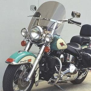 "Harley Davidson light tint tall 20"" windshield for Heritage Softail (FLSTC 1986-2014) Fat Boy (FLSTF 1990-2014) Softail Deluxe (1993-1996/2005-2012) top quality 7130 Makrolan Polycarbonate"