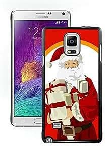 Best Buy Design Santa Claus christmas Black Samsung Galaxy Note 4 Case 4