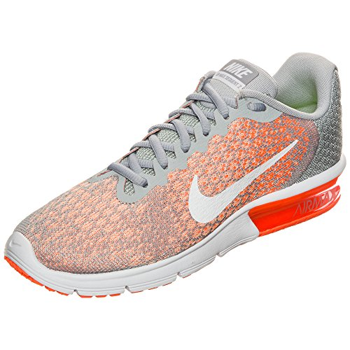 Red Orange Nike Mens Sequent Grey 2 Air Max Shoes White Running nw1wxOz8fr
