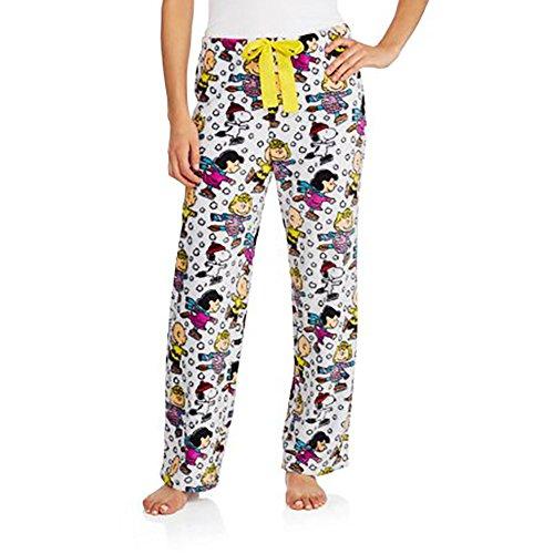 peanuts-womens-license-pajama-super-soft-plush-fleece-sleep-pants-s-4-6-multicolured