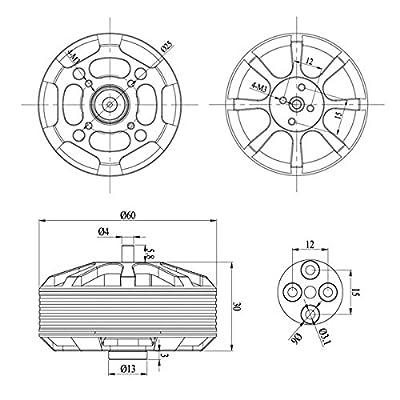 GARTT ML5210 340KV Brushless Motor for Multirotor Quadcopter Hexacopter: Toys & Games