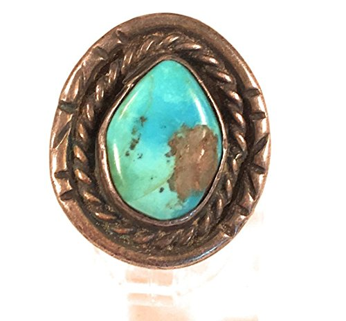 Vintage Navajo Turquoise Sterling Silver Ring Size 6.5