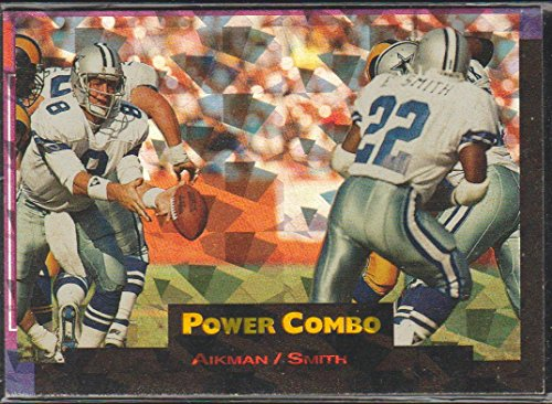 1993 Pro Set Troy Aikman/Emmitt Smith Cowboys Power Combo Insert Football Card ()