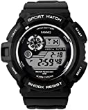 Fanmis S-Shock Multi Function Digital LED Quartz Watch Water Resistant Electronic Sport Watches Black