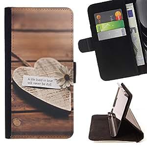 Dragon Case - FOR HTC Desire 820 - a life lived in love - Caja de la carpeta del caso en folio de cuero del tir¨®n de la cubierta protectora Shell