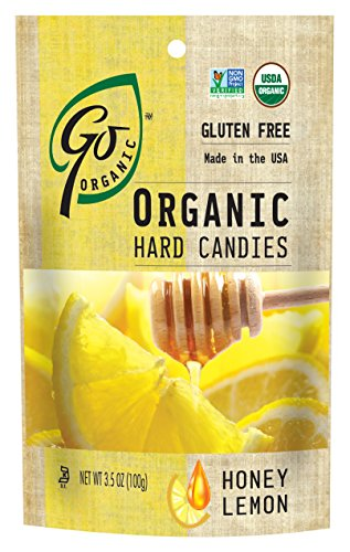 Go Organic Honey Lemon Hard Candies, 3.5 Ounce (Pack of 6)