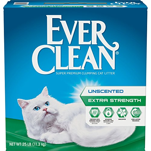 Ever Clean Extra Strength Clumping Cat Litter, Unscented, 25...