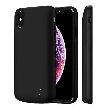 Fey-EU Funda Batería para iPhone Xs max, 6000mAh Funda Cargador Portatil Batería Externa Ultra Carcasa Batería Recargable Power Bank Case para Apple ...
