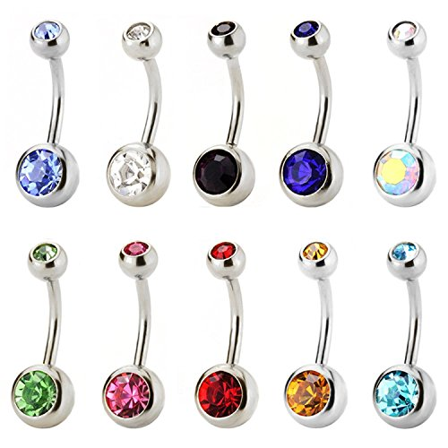 JewelrieShop Stainless Sparkly Crystals Piercing product image