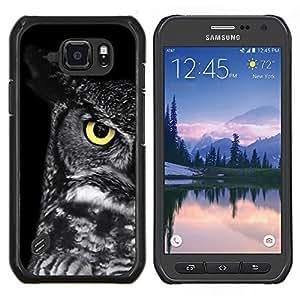 TECHCASE---Cubierta de la caja de protección para la piel dura ** Samsung Galaxy S6 Active G890A ** --escuela Profesor del buho del ojo inteligente negro