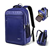 15.6 inch Business Laptop Backpack - Water Resistant - Lightweight Nylon - Travel or School Laptop Computer Backpack (Blue)