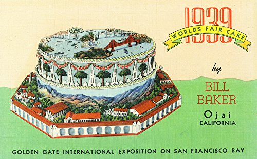 San Francisco, California - 1939 Worlds Fair Cake by Bill Baker in Ojai (24x36 SIGNED Print Master Giclee Print w/Certificate of Authenticity - Wall Decor Travel - Art California San Francisco Fair