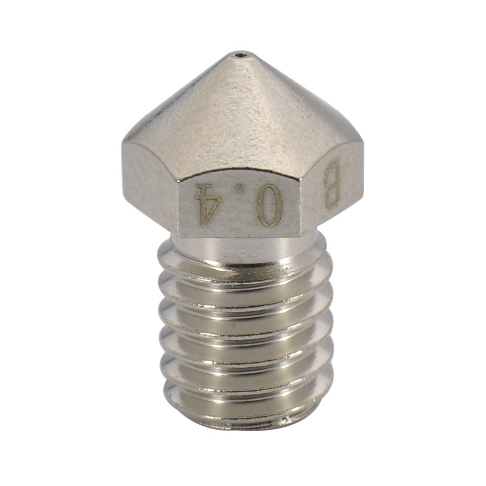 Titan Aero extruder 4pcs 3D Printer M6 Thread Plated Wear Resistant Nozzle 0.4mm // 3.0mm Compatible with V5 V6 Hotend 4pcs 0.4mm Ultimaker 2+ Extended Olsson Block Hotend
