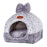 Zehui Perro para Mascotas Cama Sofá Calentamiento de la Casa de Perro Suave Nido de Perro Perrera de Invierno para Cachorro Gato Perro Mascota Suministros para Mascotas