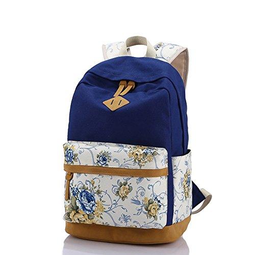 Canvas Backpack Casual BookBag Daypack