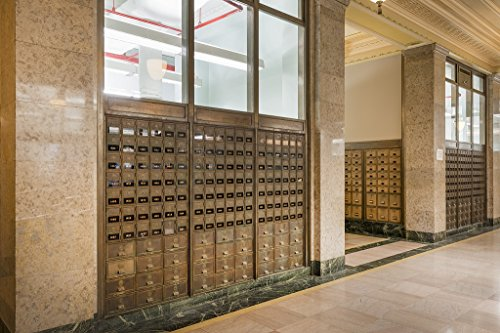 16 x 24 Art Canvas Wrapped Frame Giclee Print of Mailboxes at the Texarkana U.S. Post Office and Federal Building 4130 Highsmith 11a
