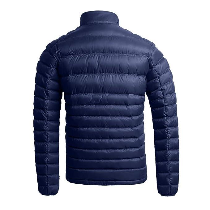 Amlaiworld Abrigos Parka Hombre Chaqueta Acolchada de algodón con Cremallera de algodón Grueso de Nailon de Invierno cálido para Hombre Cazadora Deportivas: ...