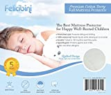Quilted Mattress Protector (Full Size) - Waterproof Soft and Absorbent Quilted Premium Cotton Terry - Comfortable and Hypoallergenic Mattress Pad - Fitted Sheet Style Topper - Protects Children and Infants From Allergies and Allergens - Durable, Long Last