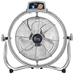 Ventilador eléctrico Acero Inoxidable a 135 ° moviendo la Cabeza sobre un Gran Viento Ventilador de