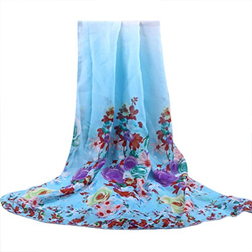 Scarves,lookatool Fashion Women Long Soft Wrap flower Ladies Shawl Chiffon Beach - Knit Wool Fringed Long Scarf