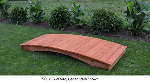 Amish-Made Weight-Bearing Cedar 4' x 10' Plank Garden Bridge, Cedar Stain ()