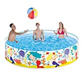Lianle Foldable Pool,Hard Plastic Portable Pool Water Pond Pool Pet Pool & Kiddie Pools for Kids in The Garden