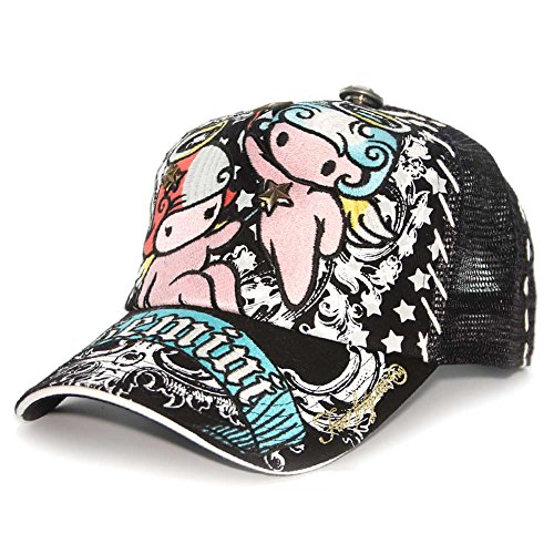 four-41-gemini-horoscope-embroidered-mesh-trucker-hat-cap-black