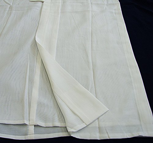 博多着物市場 きものしらゆり 夏物 L 白地 礼装 五本絽 絽 長襦袢 仕立て上がり 正絹