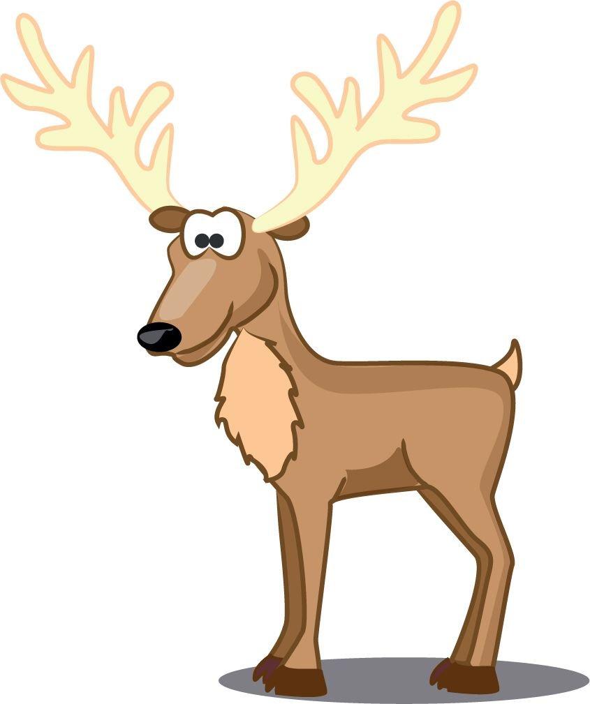 African Deer Cartoon Animal Home Decal Vinyl Sticker 12'' X 14''