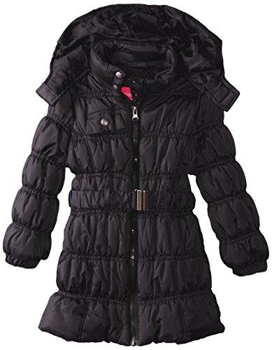 Platinum Girls' Black Pink Coat Puffer Long TZ0dWfwfq
