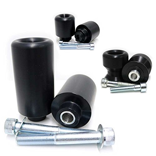 2009-2012 Honda CBR600RR Black Complete Frame Slider Kit; Includes: Frame Sliders, Swing Arm Spools and Bar Ends - 755-3349 - MADE IN THE USA