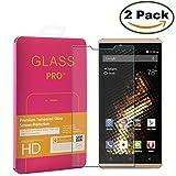 [2 Pack] Innker BLU VIVO XL Screen Protector [Tempered Glass] 0.2mm Ballistic Glass Maximum Impact Protection 99.99% Crystal Clear HD Glass for BLU VIVO XL 5.5'' [Lifetime Warranty]