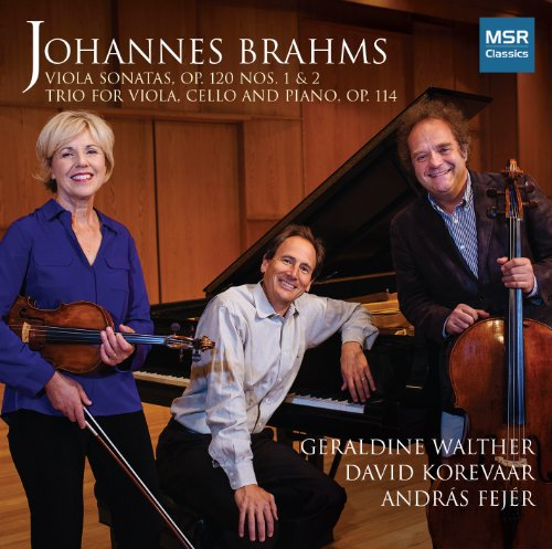 Johannes Brahms: Sonata in F minor for Viola and Piano, Op.120 No.1; Sonata in E-flat major for Viola and Piano, Op.120 No.2; Trio in A minor for Viola, Violoncello and Piano, Op.114 ()