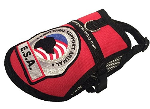 - Premium Small Dog Emotional Support Dog ESA Mesh Vest (11