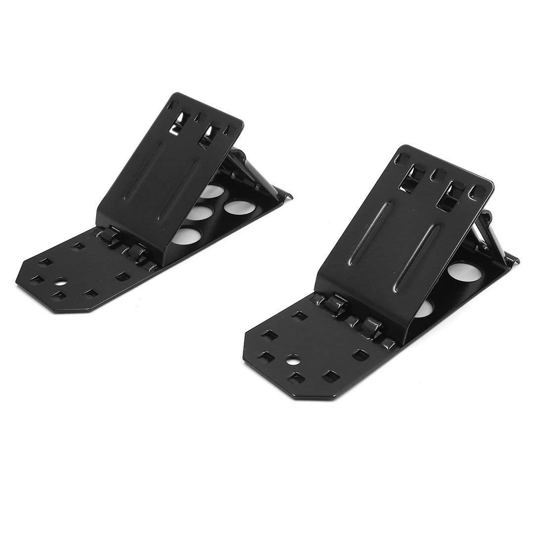 2pcs Black Metal Folding Triangle Wheel Chock Stop Stoper Tire Nonslip Supporter