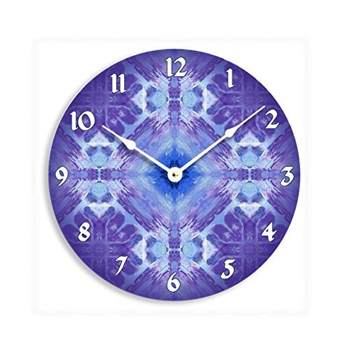 Contemporary abstract purple and blue mandala hippie design 10