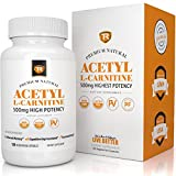 TR Supplements Natural Acetyl L-Carnitine Alcar Dietary Supplement (120 Capsules)