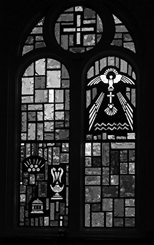 18 x 24 B&W Photo One The Clerestory Stained-Glass Windows at Our Lady Guadalupe Catholic Church in Mission, Texas 2014 Highsmith 39a