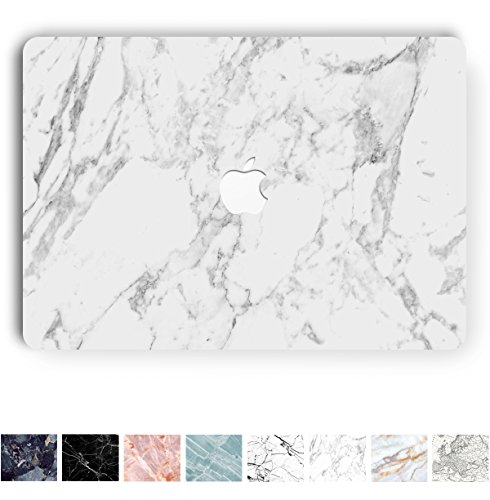 Marble Logo (Koru Premium White Marble Vinyl Decal Skin Sticker Case Cover for Macbook Pro 13 inch Retina without CD Drive (Model A1425 and A1502))