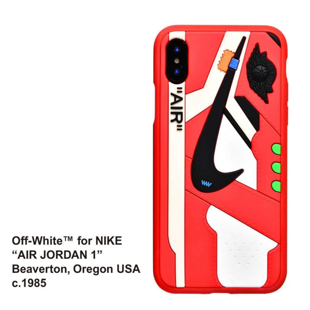 best loved bed8a 56dc6 Phone Case for iPhone 6s Plus/6 Plus, Off White x AJ Sneaker Cover Shock  Absorption Soft TPU Bumper Anti-Scratch Ultra Slim Protective Case for  iPhone ...