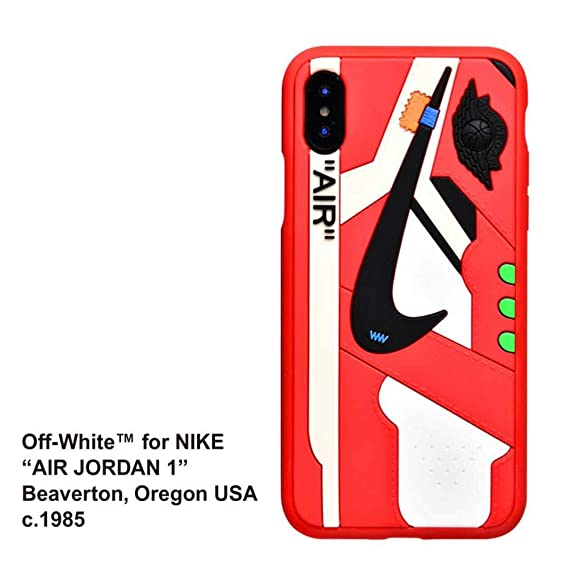 best loved 47f02 71f89 Phone Case for iPhone 6s Plus/6 Plus, Off White x AJ Sneaker Cover Shock  Absorption Soft TPU Bumper Anti-Scratch Ultra Slim Protective Case for  iPhone ...
