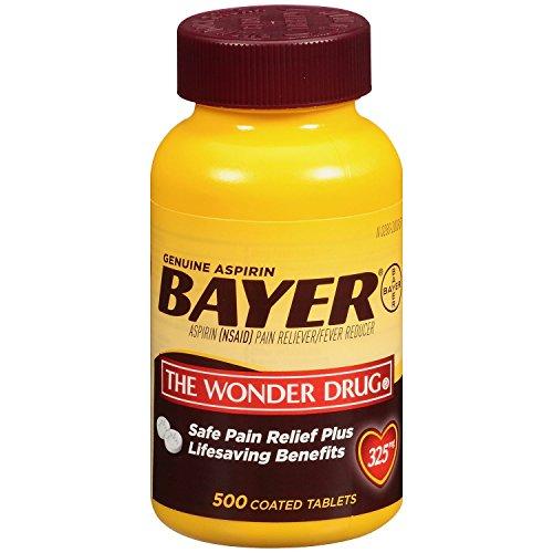 Aspirin 325 Mg Tab - Bayer Aspirin 325 mg Coated Tablets, 500 Count