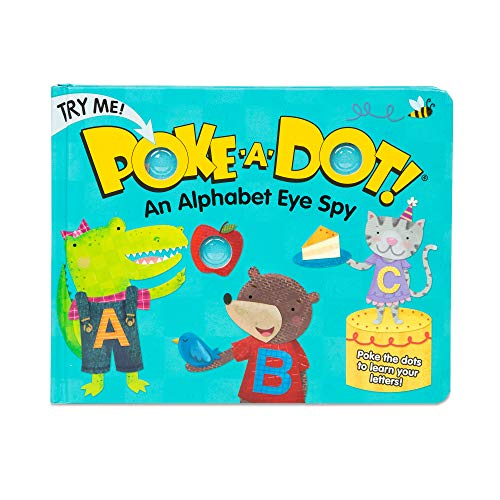 Melissa & Doug Children's Book – Poke-A-Dot: An Alphabet Eye Spy (Board Book with Buttons To Pop)