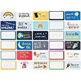 Pack of 60 Lunch Box Notes - Colorful Inspirational and Motivational Cards for Kids, 2 x 3.5 inches